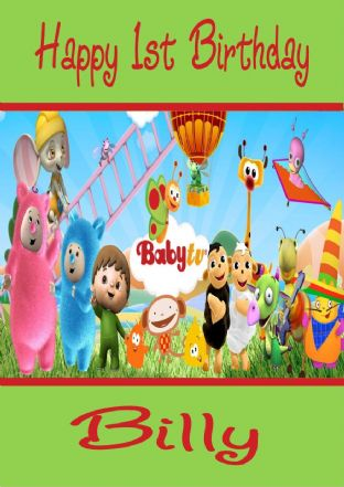Personalised Baby TV Billy Bam Bam & Characters Birthday Card